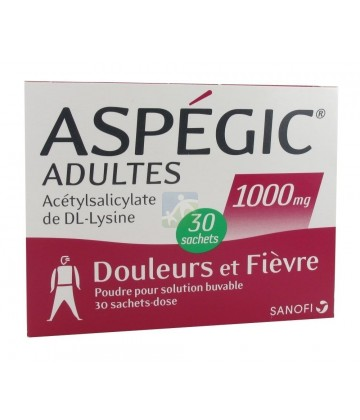 Aspegic Adultes 1000 mg x 30