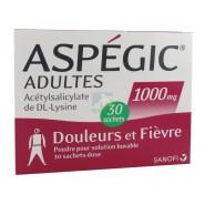 Aspegic Adultes 1000 mg x 30