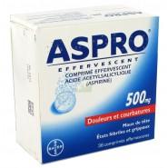 Aspro 500 Effervescent x 36