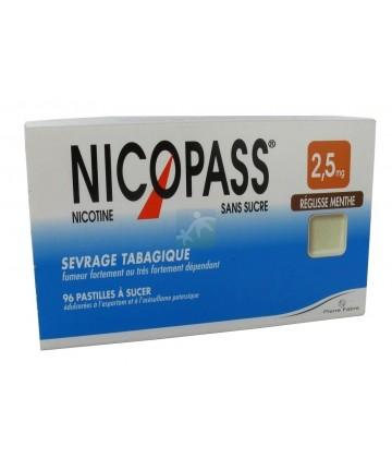 Nicopass 2,5 mg Pastilles Réglisse Menthe x 96