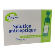Cooper Solution Antiseptique Chlorhexidine 0,5 % x 12