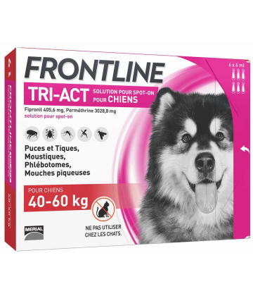 Frontline Tri-Act Chiens 40-60 kg x 6
