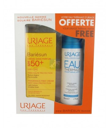 Coffret Uriage Bariésun Crème Sans Parfum SPF50+ 50 ml + Eau Thermale 50 ml OFFERTE
