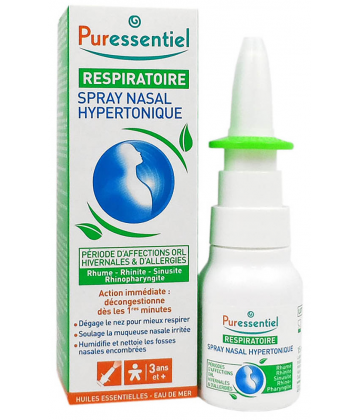 Puressentiel Spray Nasal Hypertonique Respiratoire 15 ml