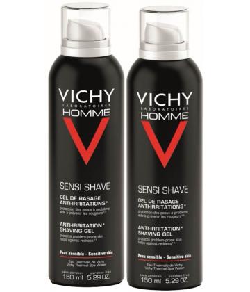 Vichy Homme Gel Rasage Anti-irritations 2 x 150 ml