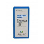 Lehning n°15 Crataegus Eréthisme cardiaque 30 ml