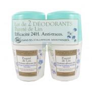 Sanoflore Pureté de Lin Déodorant Efficacité 24h 2 x 50 ml
