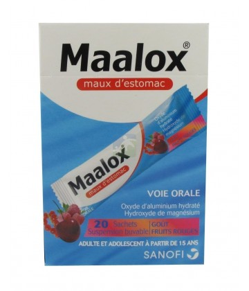 Maalox Maux d'estomac goût Fruits Rouges x 20