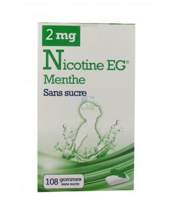 EG Nicotine Menthe Gommes Sans Sucre 2 mg x 108