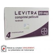 Levitra 20 mg Comprimés pelliculés x 4