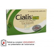 Cialis 10 mg Comprimés pelliculés x 4