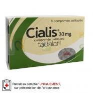 Cialis 20 mg Comprimés pelliculés x 8