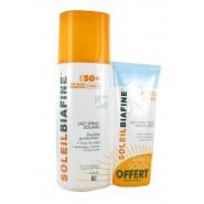 SoleilBiafine Lait Spray Solaire Haute Tolérance SPF50+ 200 ml + Lait Après Soleil 50 ml OFFERT