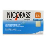 Nicopass 2,5 mg Pastilles Menthe Fraîcheur x 36
