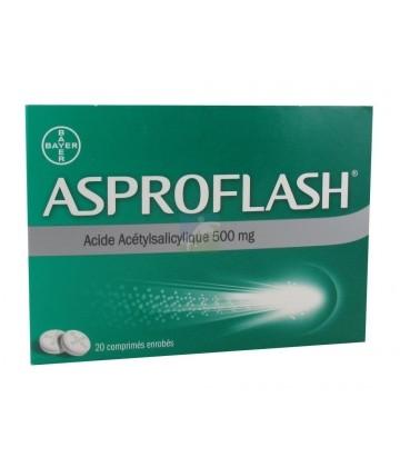 AsproFlash 500 mg Comprimés enrobés x 20