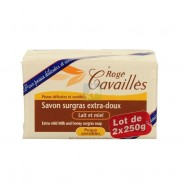 Rogé Cavaillès Savon Surgras Extra Doux Lait et Miel 2 x 250 g