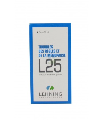 Lehning n°25 Troubles des Règles et de la Ménopause 30 ml