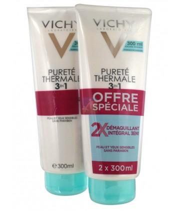 Vichy Pureté Thermale Démaquillant Intégral 3 en 1 2 x 300 ml