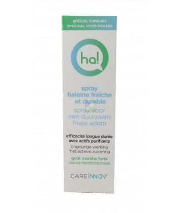 Ha! Spray Haleine Fraîche et Durable Goût Menthe Spécial Fumeur 15 ml