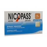 Nicopass 2,5 mg Pastilles Menthe Fraîcheur x 12