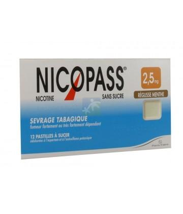 Nicopass 2,5 mg Pastilles Réglisse Menthe x 12
