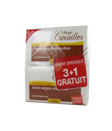 Rogé Cavaillès Savon Surgras Extra Doux 4 x 250 g