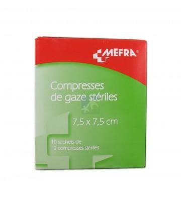 3M Méfra Compresses de Gaze Stériles 7,5 cm x 7,5 cm x 10