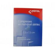 3M Méfra Compresses en Non-Tissé Stériles 7,5 cm x 7,5 cm x 50