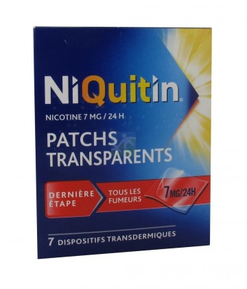 NiQuitin patchs 7 mg/24h x 7