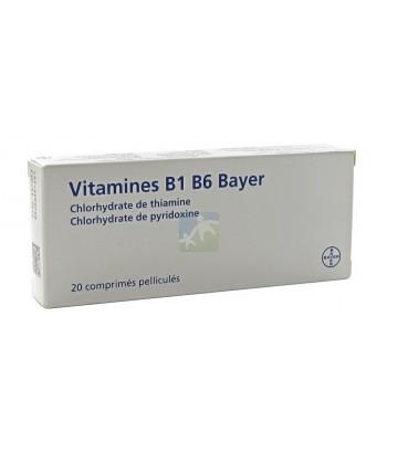 Vitamine B1 B6 Bayer x 20
