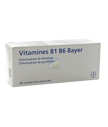 Vitamine B1 B6 Bayer x 40