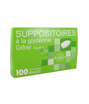 Suppositoires à la Glycérine Gifrer Adultes x 100