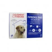 Clément Thékan Fiprokil Duo Chien 268 mg/80 mg 2,68 ml x 4