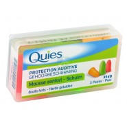 Quies Protection Auditive Mousse Fluo x 6