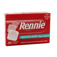 Rennie Menthe Verte Sans Sucre x 36
