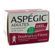 Aspegic Adultes 1000 mg x 15
