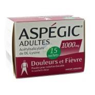Aspegic Adultes 1000 mg x 15