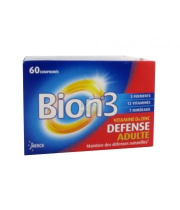 BION 3 - Défense Vitamine D & Zinc Adulte - 60 comprimés