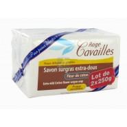 Rogé Cavaillès Savon Surgras Extra Doux Fleur de Coton 2 x 250 g