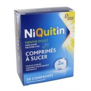 NiQuitin 2 mg Menthe Douce Comprimés à Sucer Sans Sucre x 36