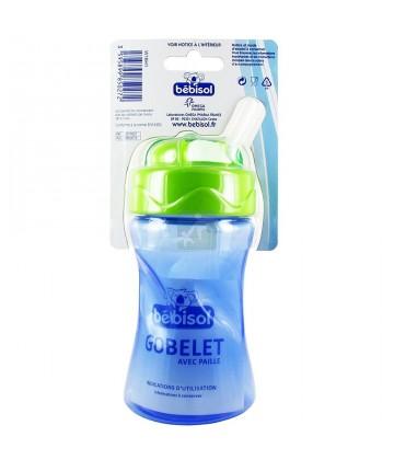 BEBISOL GOBELET AVEC PAILLE clic clac. 300 ml
