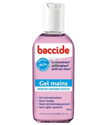 Gel Main Hydroalcoolique Parfum Amande Douce Baccide
