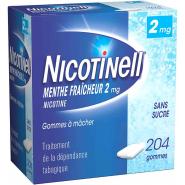Nicotinell Menthe Fraîcheur 2mg Sans Sucre x 204