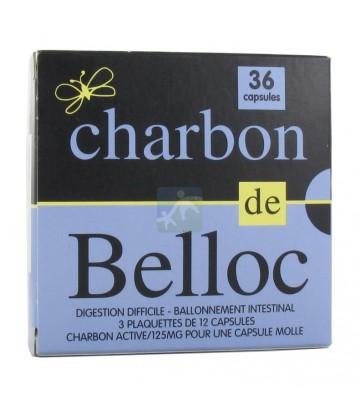 Charbon de Belloc 125 mg Capsules x 36