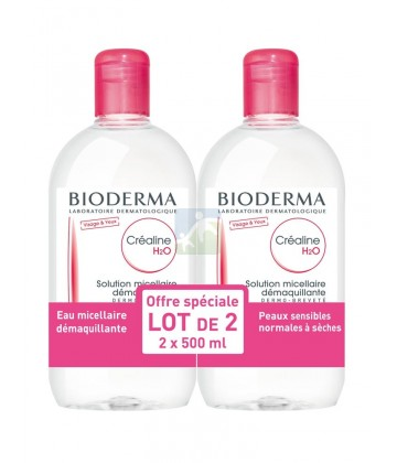 Bioderma Créaline H2O Solution Micellaire 2 x 500 ml