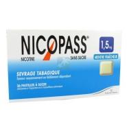 Nicopass 1,5 mg Pastilles Menthe Fraîcheur x 36