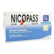 Nicopass 1,5 mg Pastilles Menthe Fraîcheur x 96