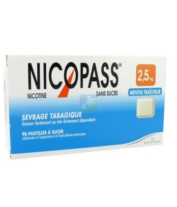 Nicopass 2,5 mg Pastilles Menthe Fraîcheur x 96