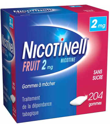 Nicotinell Fruits 2 mg Sans Sucre x 204
