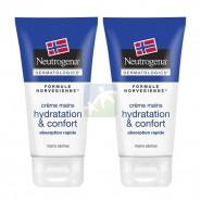 Neutrogena Crème Mains Sèches Hydratation et Confort 2 x 75 ml